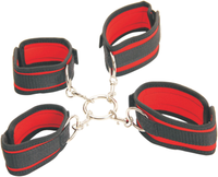 Under Sex Bed Restraints Hog Tie and Handcuff Bondage Set for Couple BDSM adults