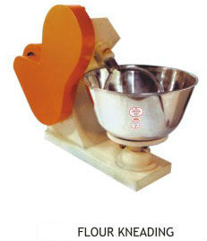 Dough kneading machine.