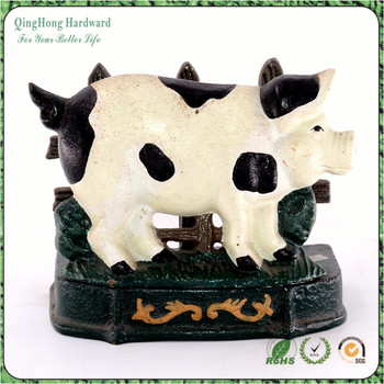 Cow Shape Cast Iron Restaurant Or Home Table Decoration Menu Holder