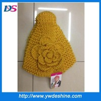 Latest designs fashion handcraft lady wool headband with flower wholesale TS-206