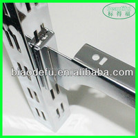Hollow Double Lines Square Metal Slotted Pipe for Supermarket