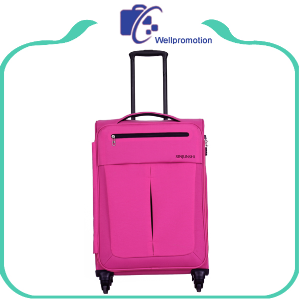Pink softside air travelling roller piggy luggage bag for women