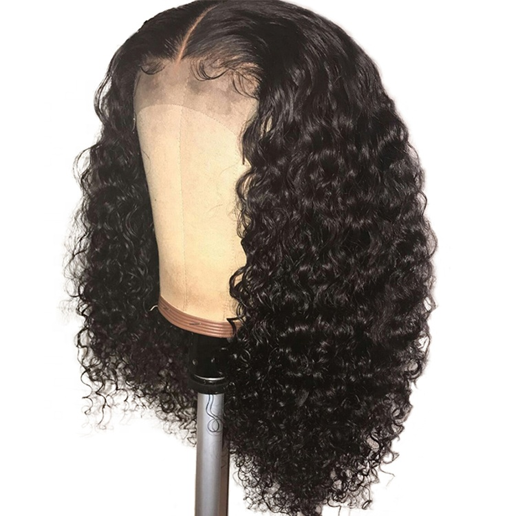 Highknight Density 150% Glueless Kinky Curly Brazilian Virgin Human Hair <strong>13</strong>*6 Lace Front Wig With Baby Hair Wigs