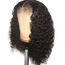 Highknight Glueless Kinky Curly 13X6 Brazilian Remy Hair Lace Front Human Hair Wig With Baby Hair