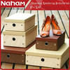NAHAM Wholesale Woven Paper Foldable Storage Custom shoe box