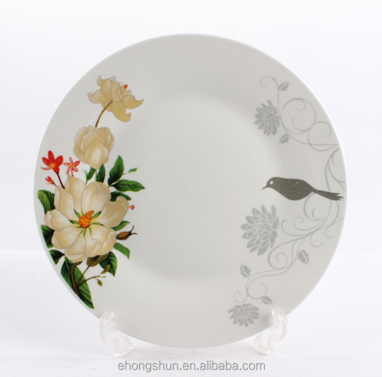 White round porcelain/ceramic tray for homeware