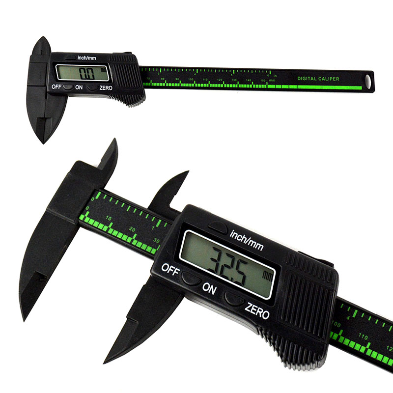 6inch 150mm Electronic Digital Carbon Fiber Gauge Black Vernier Caliper