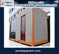 Fast building prefabricated temporary site office building container homes/ container houses for sale