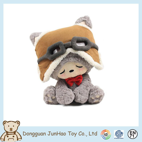 High quality plush PV fabric stuffed fox animal toy for kids