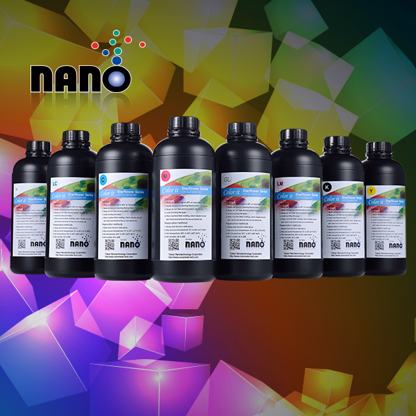 refers to under the UV light using different wavelengths and energy UV lights to dry the ink and film forming ink