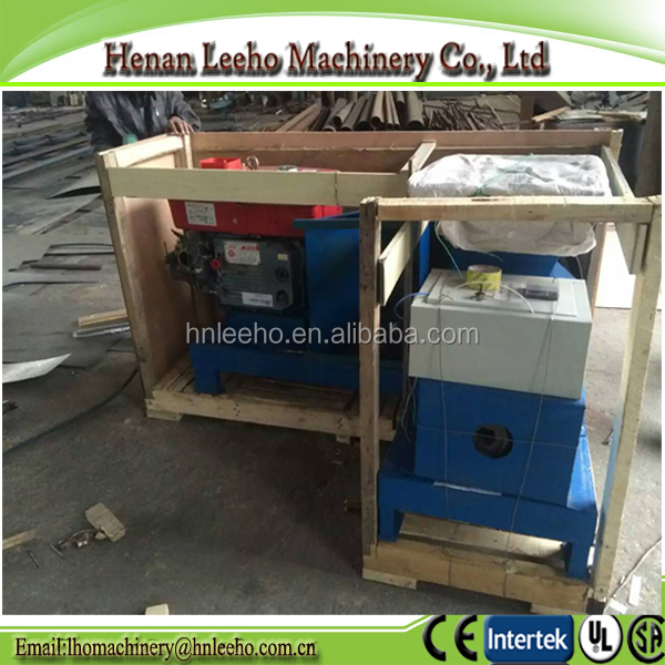 Electrical and diesel engine wood waste charcoal briquette press machine