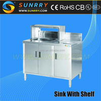 Hot sale portable mini bar counter single sink with shelf ( SY-BT03 )