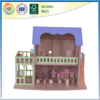 2016 hot new sales and popular house, wooden assembly toy