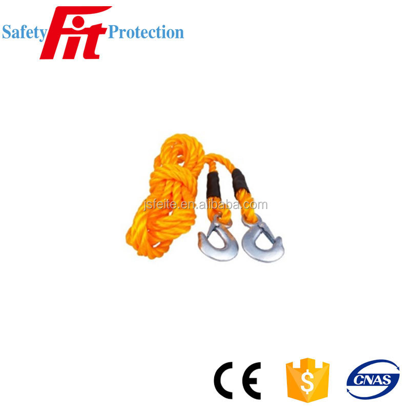 Tow Rope With Safety Clip Hooks