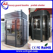With many styles and sizes luxury aluminum & steel access control guard booths security building watch house / prefab shelter
