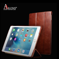 Chinese factory OEM pc hard table case top grain leather book case for ipad Mini4