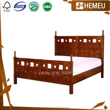 BD0903 High bed rails and end Hollow out wooden bed frame