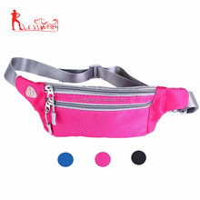 Waterproof waist bag with headphone jack for running hiking dog walking