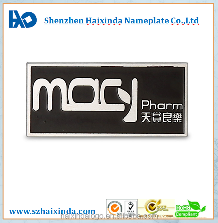cheap wholesale custom logo metal nameplate stainless steel tag