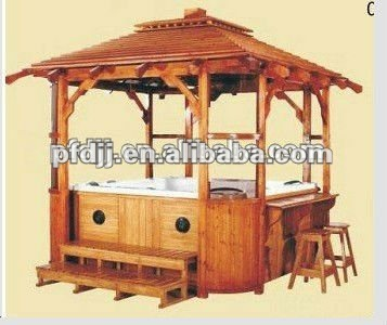 High quality exquisite wooden gazebo