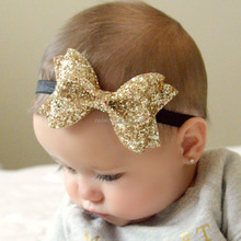 2017 Hot Selling Sequin Big Bows Kids Handband For Girls