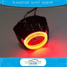 3.0 H/L projector lens shrouds with double angel eyes LED DRL for headlamp retrofit