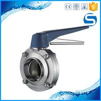 Wholesale Sanitary Pipe Fitting low price valve butterfly
