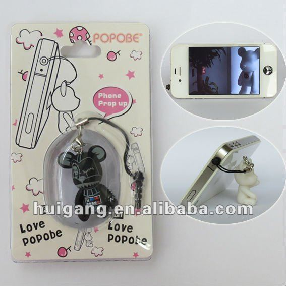 mobile phone bear toy fashion head phone parts holder