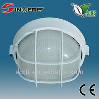 white surface diecasting aluminum lamp house waterproof anti-shock outdoor industrial bulkhead LED oval bookcase lighting