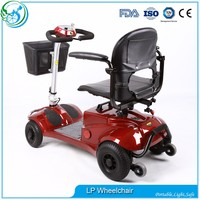 Supermarket old man 4 wheel electric portable mobility scooter
