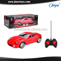 1:16 scale 4 Channel Radio Control Car with LED light ( Red & Orange 2 colors Assorted )