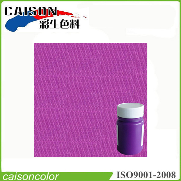 Fluorescent violet screen printing paints for textile coloring