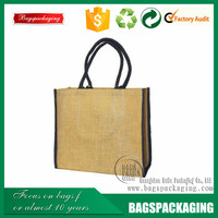 Best quality reusable hand jute burlap shopping bag