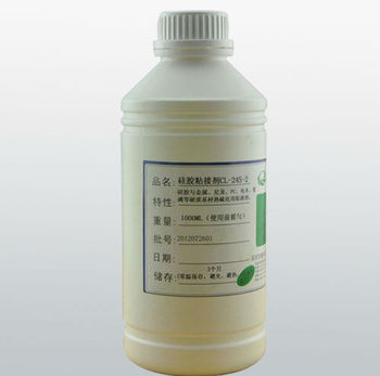 No white powder heat cured silicone adhesive of good quality