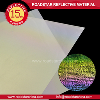 rainbow colors reflective transfer film for shoes