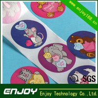 Hot popular with toys adhesive labels with eco-friendly material and SGS