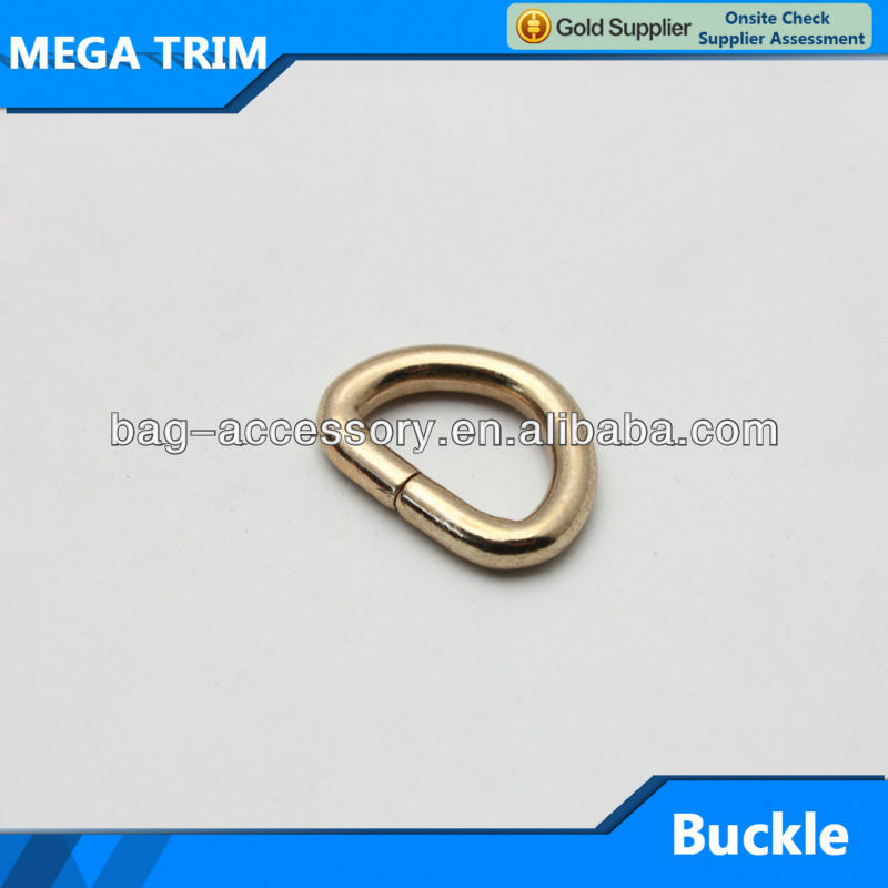 Light gold D ring buckle metal d ring wholesale bag parts