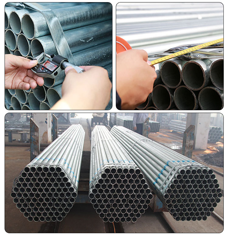 ERW Galvanized Pipe Hot Rolled Welded Black Iron Steel Pipe