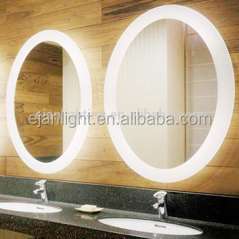 Customed sizes frameless mirrors bath mirrors type led for Custom size mirrors bathrooms
