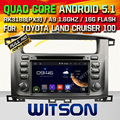 WITSON Android 5.1 CAR DVD For TOYOTA LAND CRUISER 100 WITH CHIPSET 1080P 16G ROM WIFI 3G INTERNET DVR SUPPORT