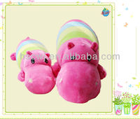 safety soft cuddly soothing rainbow hippo baby plush toys