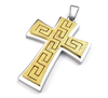 SP0813002 Newest Design Fashion Stainless Steel Sandblasting Wholesale Large Cross Pendant Jewelry