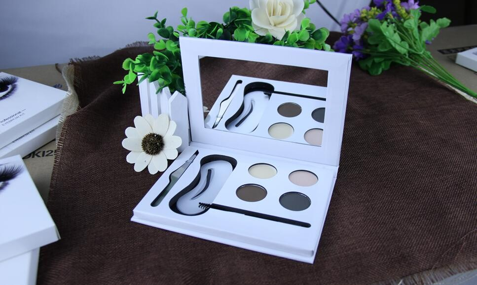 4 color private label cosmetics eyebrow makeup kit