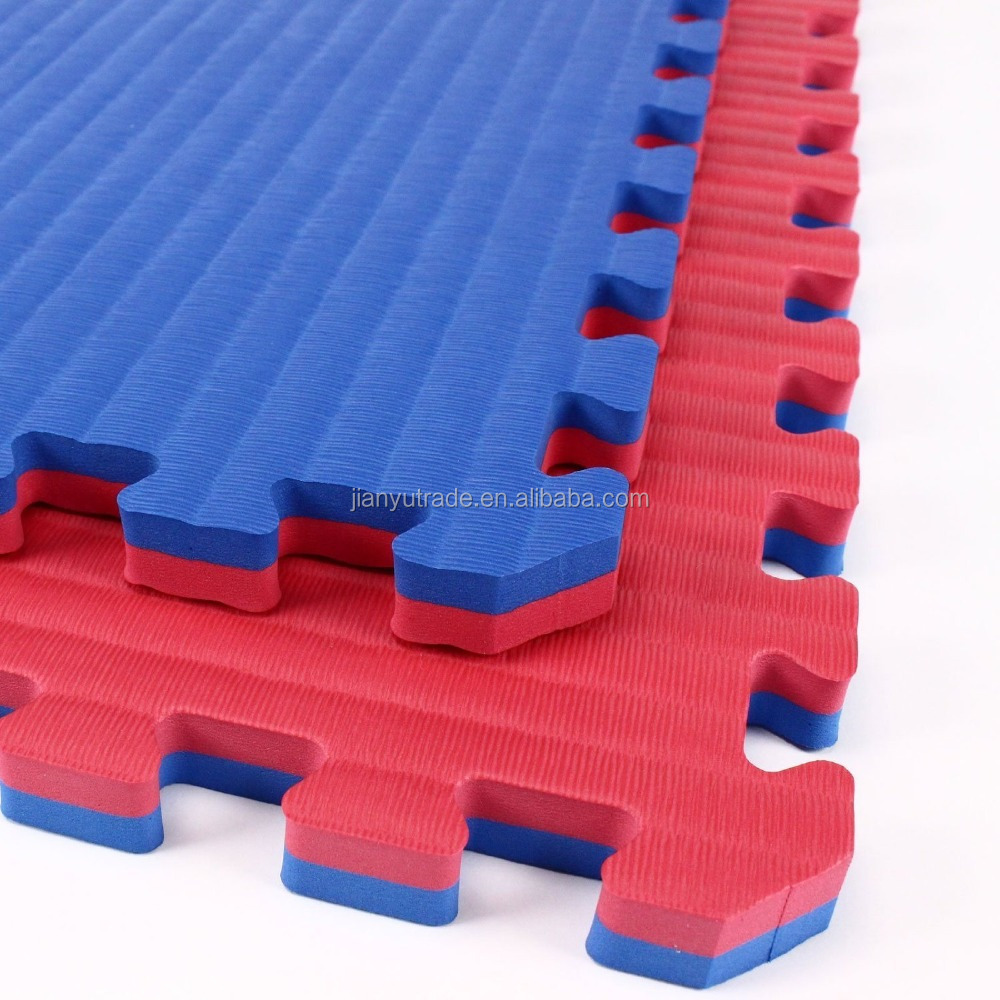 Red Blue, five strips and T pattern Competition Grade Taekwondo karate mat interlocking flooring mats martial arts mat
