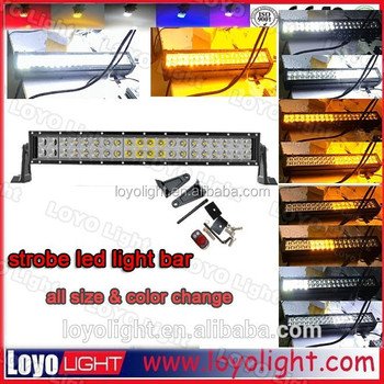 120w 36w 7.5inch 41.5inch 50inch diy led light bar 3D orange for jeep, utv, offroad