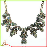 HOT new arrival europe popular black and white rhinestone best selling product necklace