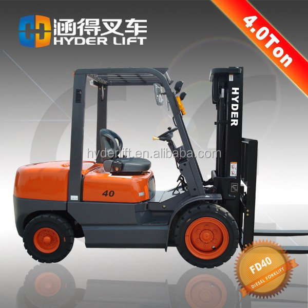 4ton diesel forklift truck with overhead mirror