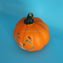 Ghost toys led light halloween pumpkin led lighted plastic halloween pumpkin for decoration