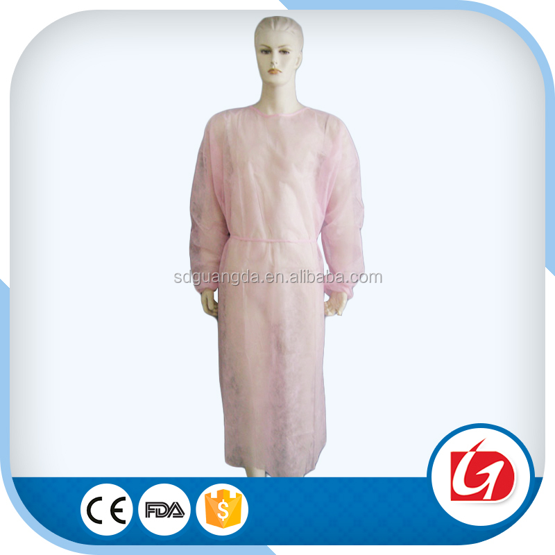 White Non-woven Isolation Gown/Disposable Work Clothes yellow isolation gown white grecian gowns