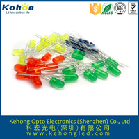 RoHs Ultra bright diffused/ clear 3mm 5mm 8mm bi-color light emitting diode for toy indicator